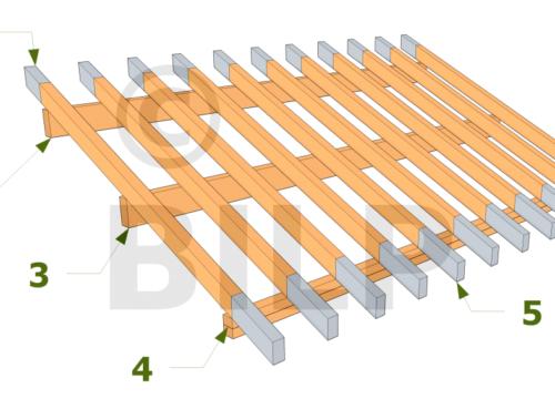 Charpente bois 1 pente da silva carlos loz re - Comment monter des tuiles sur un toit ...